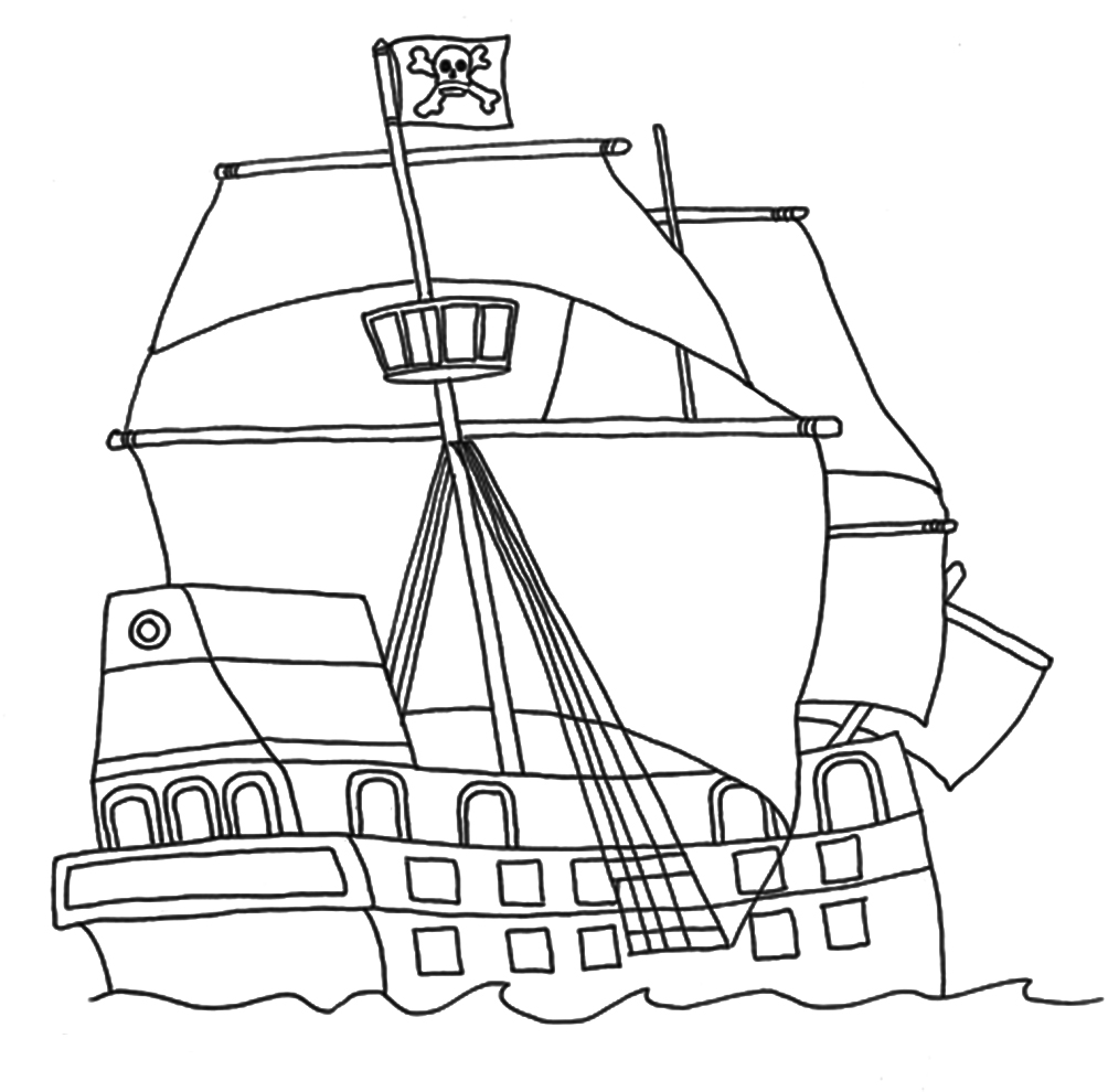pirate ship to color simple pirate ship coloring pages for preschool ship color pirate to