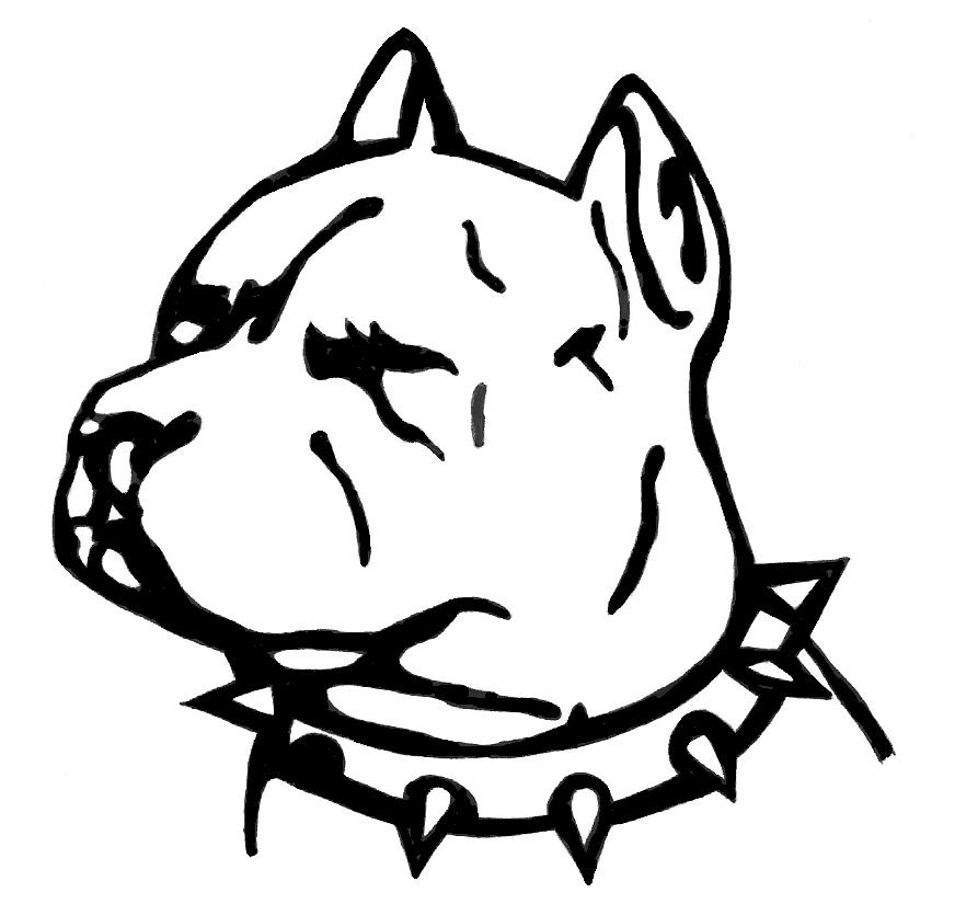 pitbull outline pictures mean looking pit bull head long crop ears outline sticker pictures pitbull outline