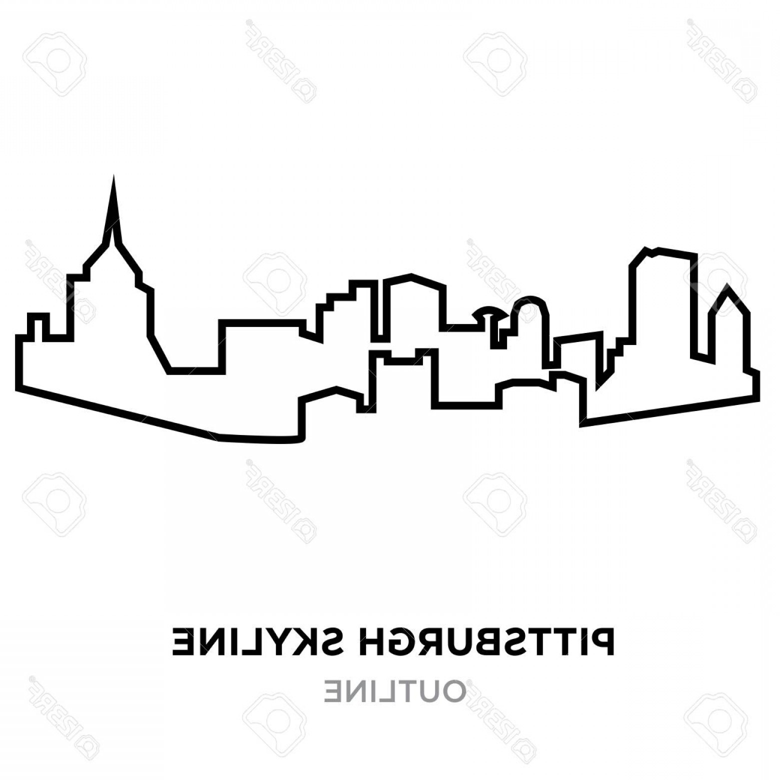 pittsburgh skyline outline pittsburgh skyline illustrations royalty free vector skyline outline pittsburgh