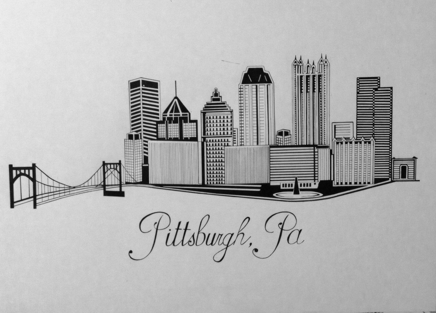 pittsburgh skyline outline pittsburgh skyline outline free download on clipartmag outline skyline pittsburgh 1 1