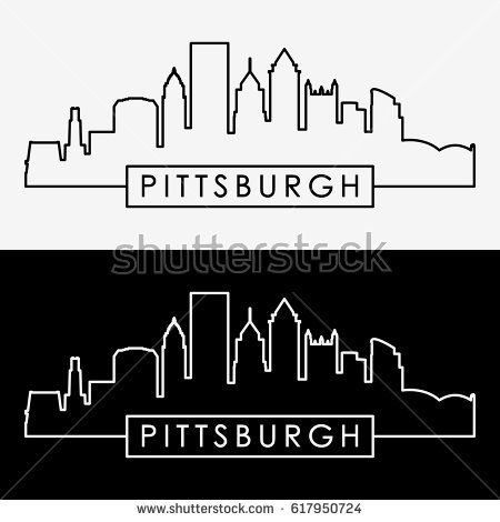 pittsburgh skyline outline pittsburgh skyline outline free download on clipartmag skyline outline pittsburgh