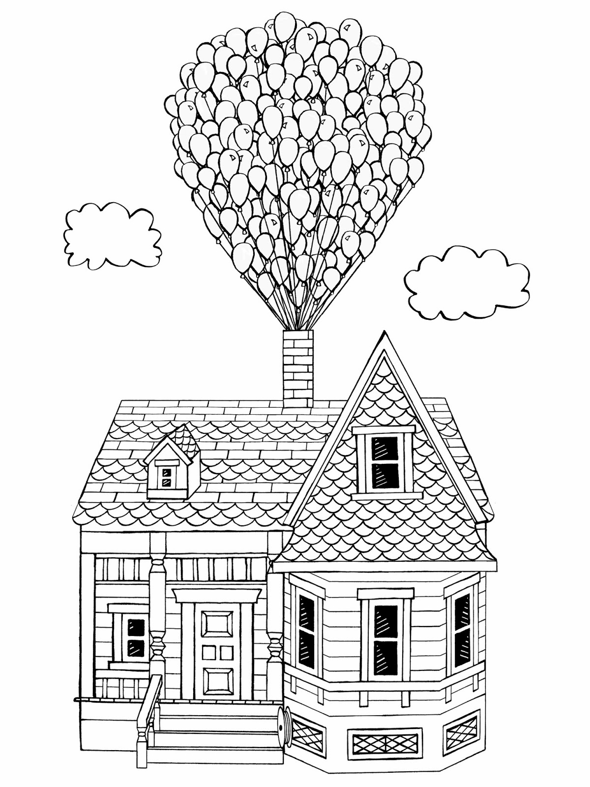 pixar up house coloring pages pixar up house drawing at getdrawings free download up coloring house pages pixar