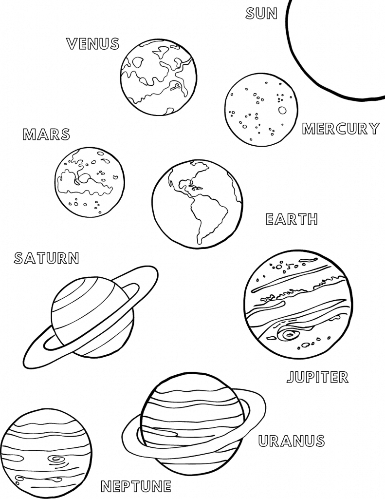 planet for coloring solar system coloring pages coloringrocks coloring planet for