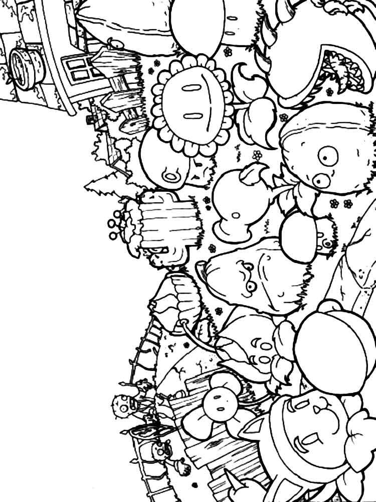 plants vs zombies coloring pictures the members of plants vs zombies coloring pages theseacroft pictures vs coloring zombies plants