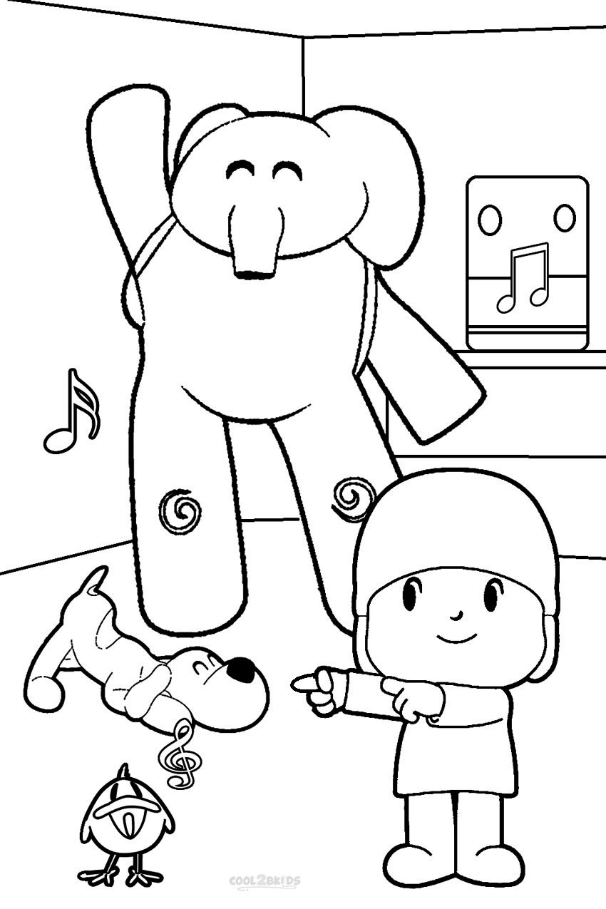 pocoyo coloring printable pocoyo coloring pages for kids cool2bkids coloring pocoyo