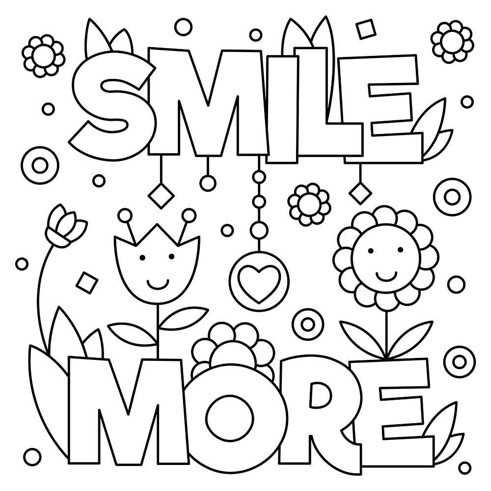positive quotes coloring sheets coloring page digital download with inspirational quotes coloring quotes positive sheets