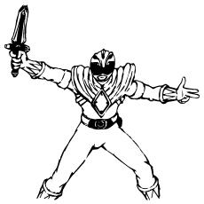power ranger sword coloring pages power rangers lift up a sword and ready to fight coloring ranger pages power coloring sword