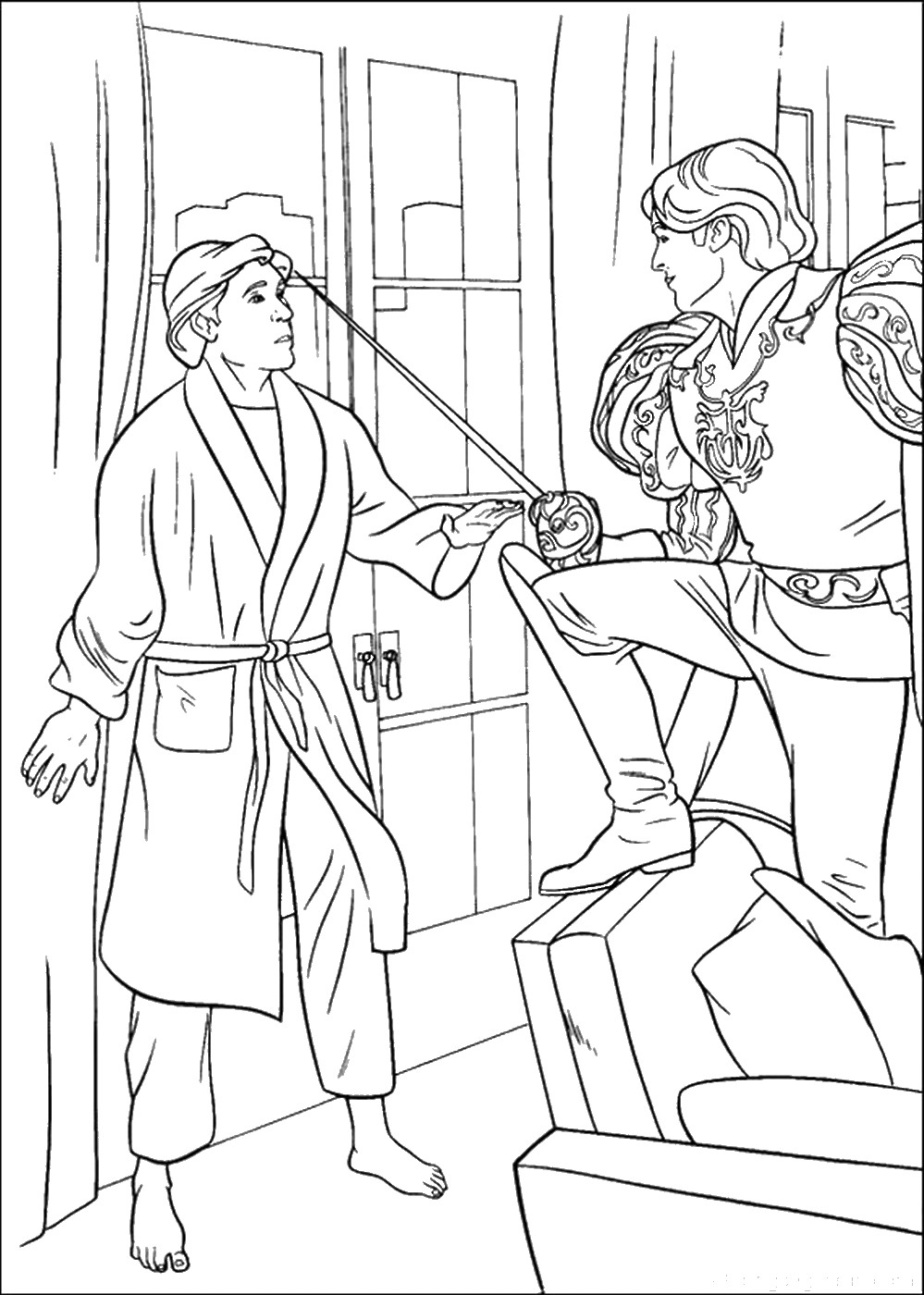 prince coloring pages prince naveen coloring page free the princess and the prince coloring pages
