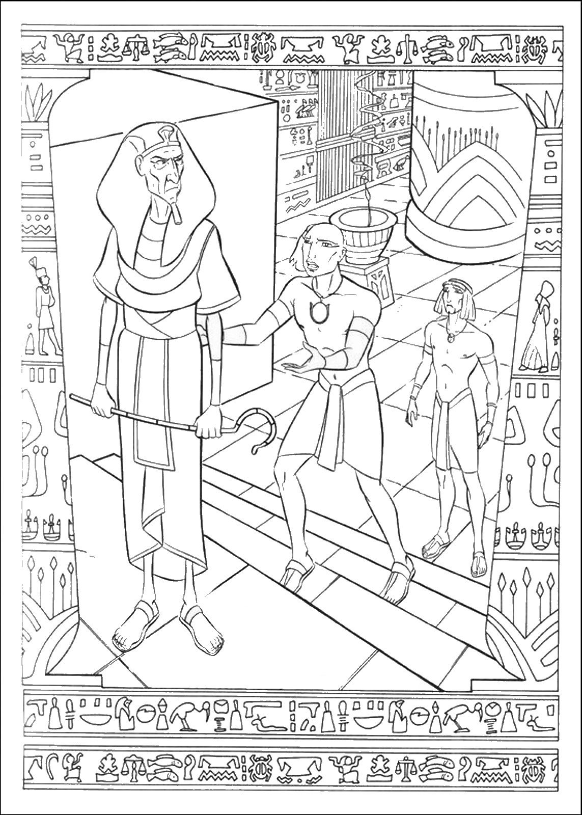 prince coloring pages the prince of egypt making mess at the marketplace coloring prince pages