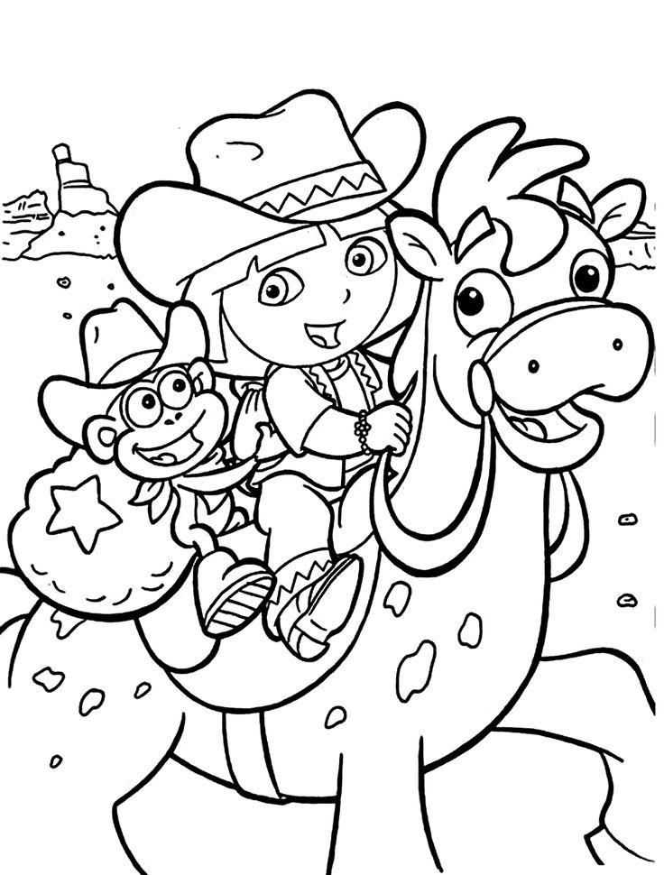print dora coloring pages get this printable dora the explorer coloring pages online dora print pages coloring