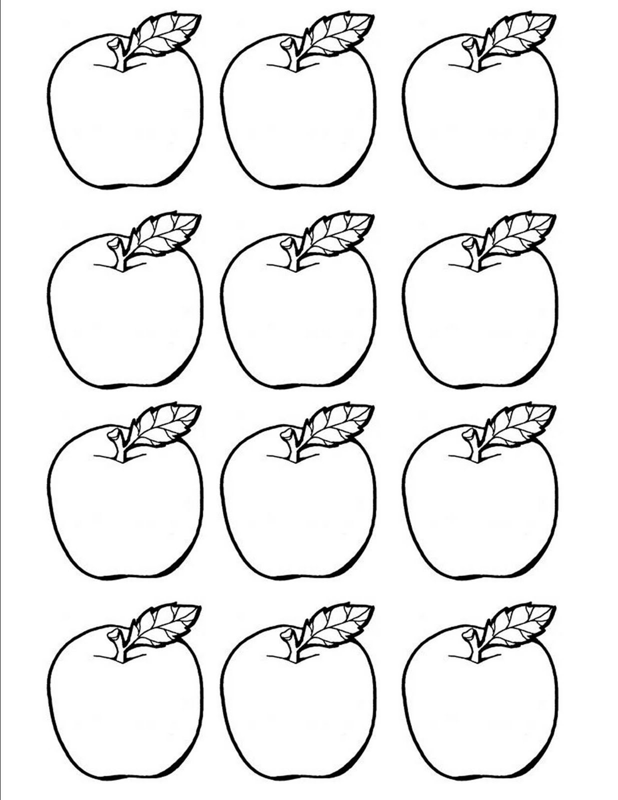 printable apple pictures free printable apple coloring pages for kids apple pictures printable