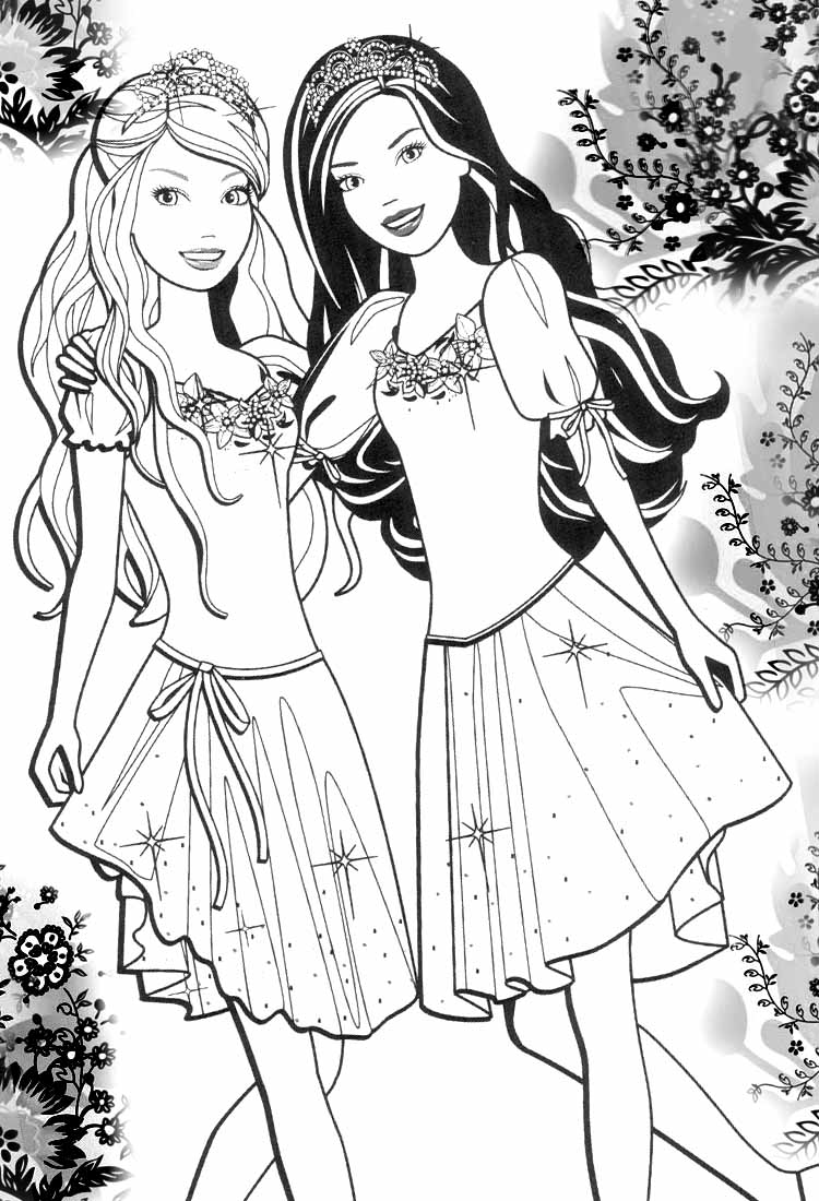 printable barbie family coloring pages 85 barbie coloring pages for girls barbie princess coloring family printable barbie pages