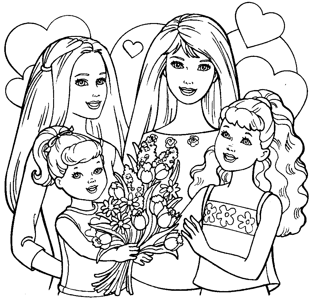 printable barbie family coloring pages barbie and ken coloring pages getcoloringpagescom coloring printable barbie pages family