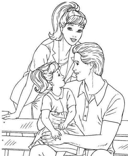 printable barbie family coloring pages barbie and ken coloring pages getcoloringpagescom family printable pages coloring barbie