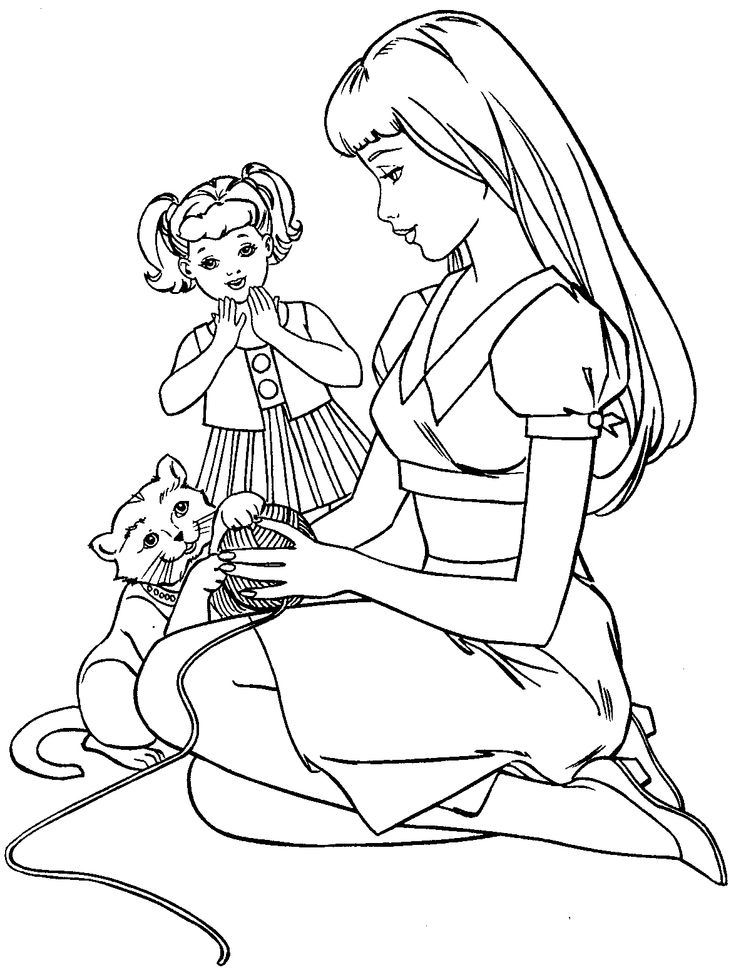 printable barbie family coloring pages barbie and ken coloring pages getcoloringpagescom pages family barbie printable coloring