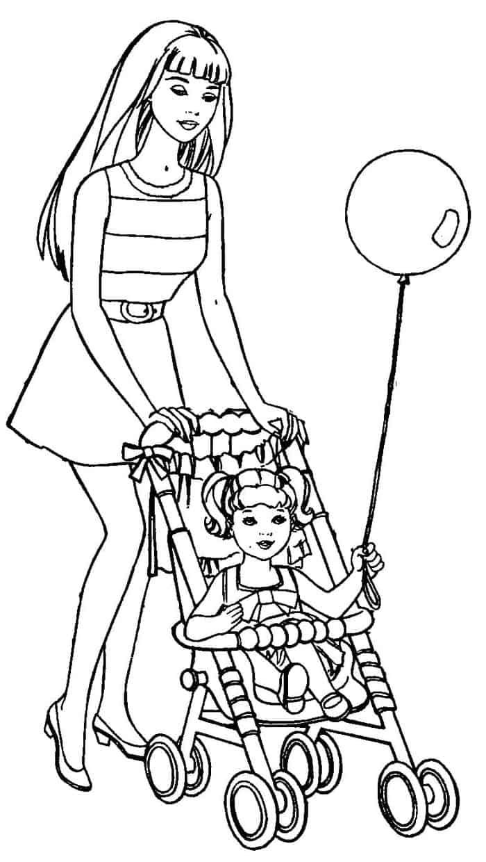 printable barbie family coloring pages barbie ken and friends coloring pages hellokidscom pages printable family barbie coloring
