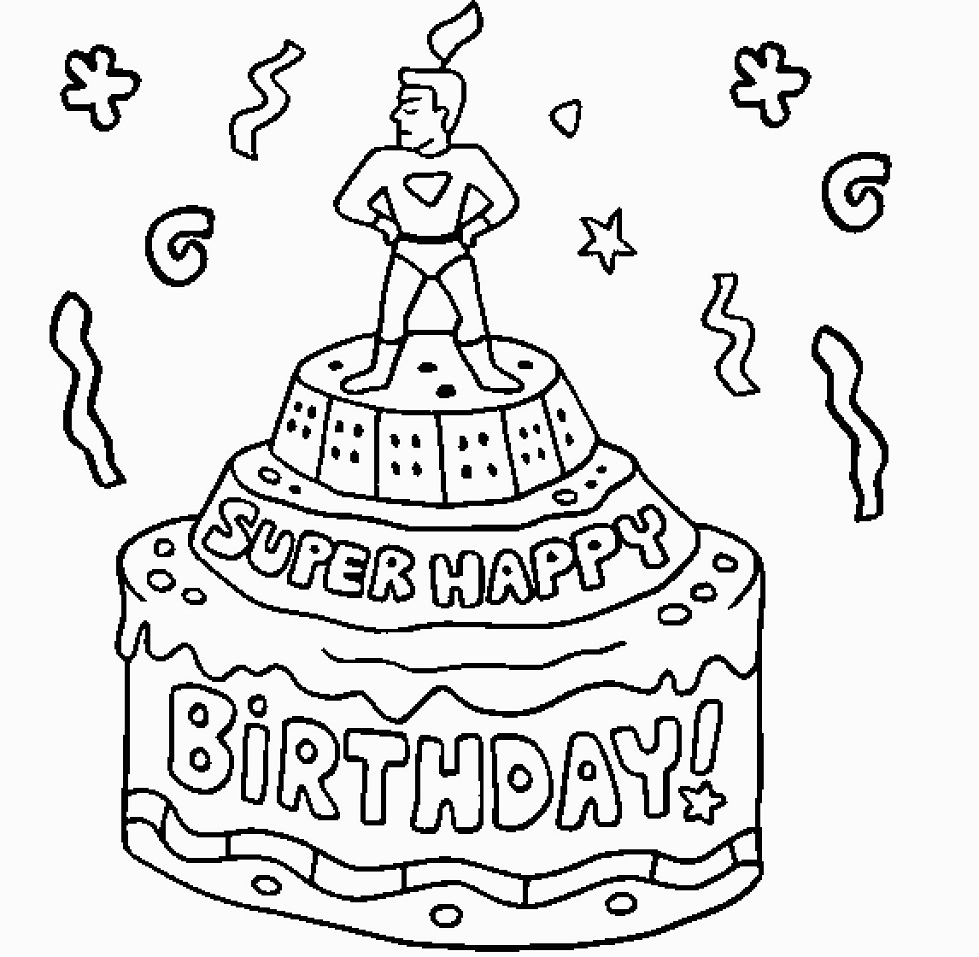 printable birthday cake coloring page super happy birthday cake coloring page free printable printable cake birthday coloring page
