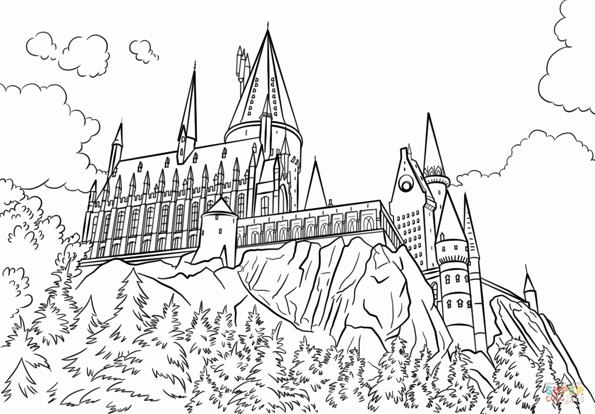 printable castle hogwarts castle coloring page at getdrawings free download printable castle