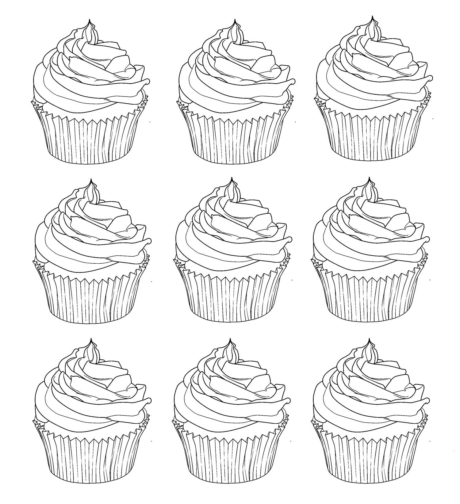 printable cupcake coloring pages cupcakes warhol cupcakes adult coloring pages cupcake printable pages coloring