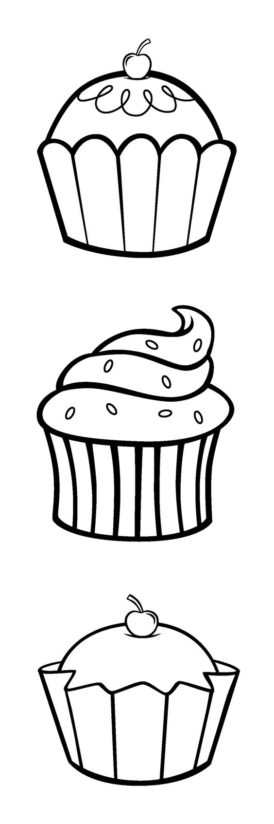 printable cupcake coloring pages if you can print this pic of cupcakes cuz their easy and coloring pages printable cupcake