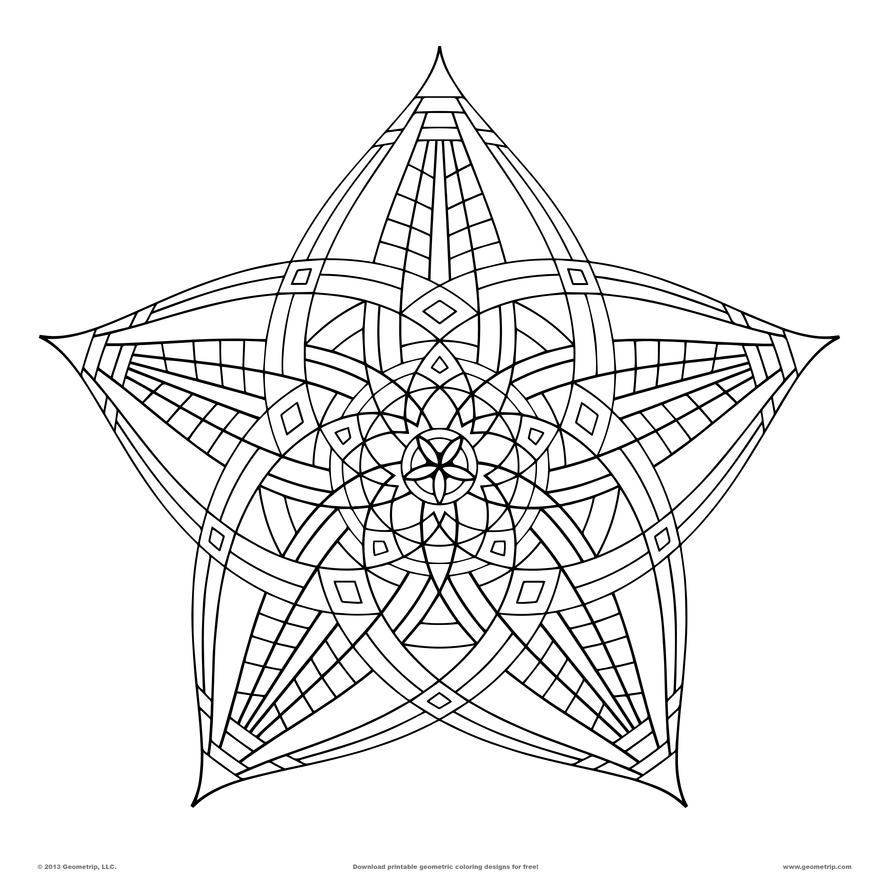 printable designs to color get this geometric coloring pages free printable 98391 printable color to designs