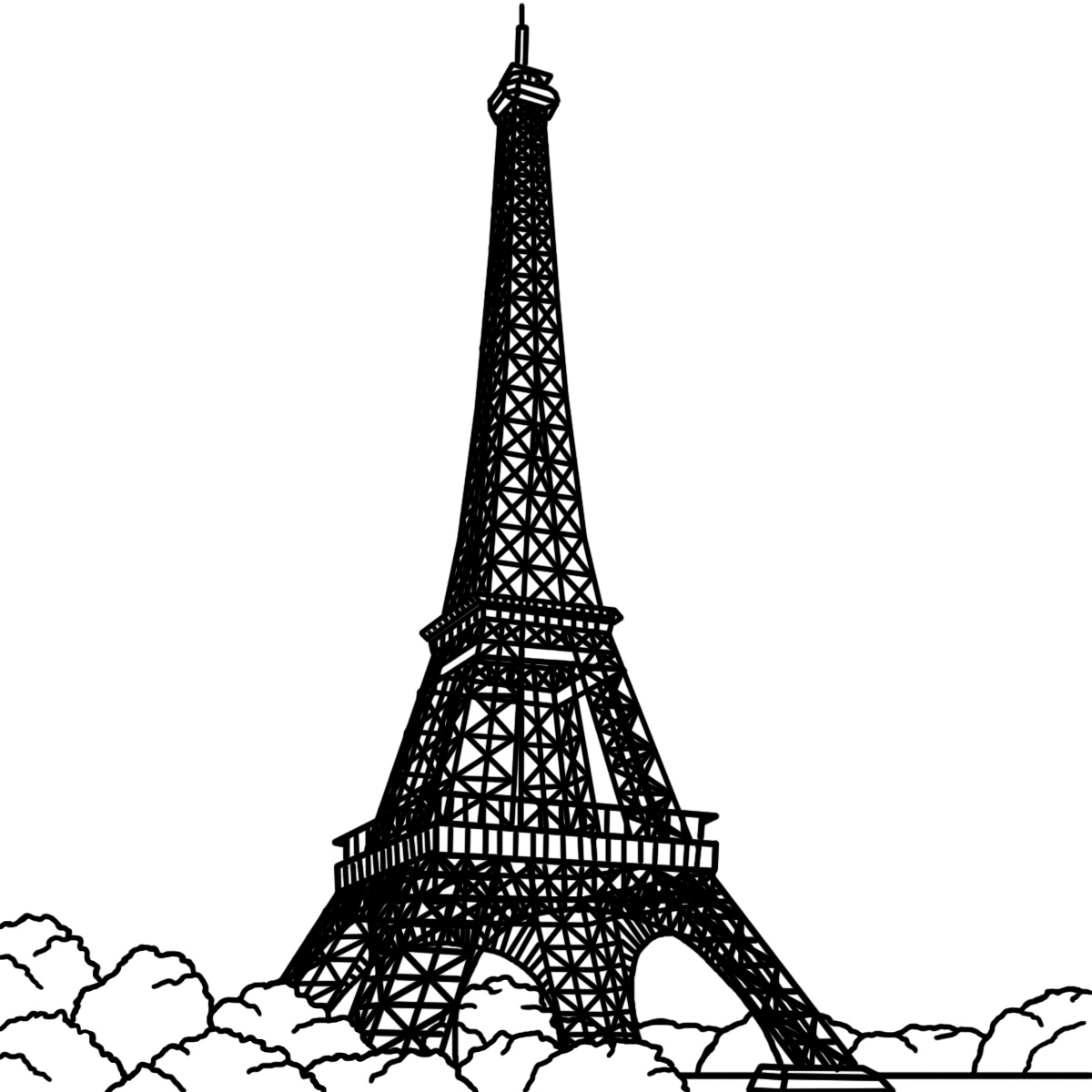 printable eiffel tower free printable eiffel tower coloring pages for kids eiffel printable tower