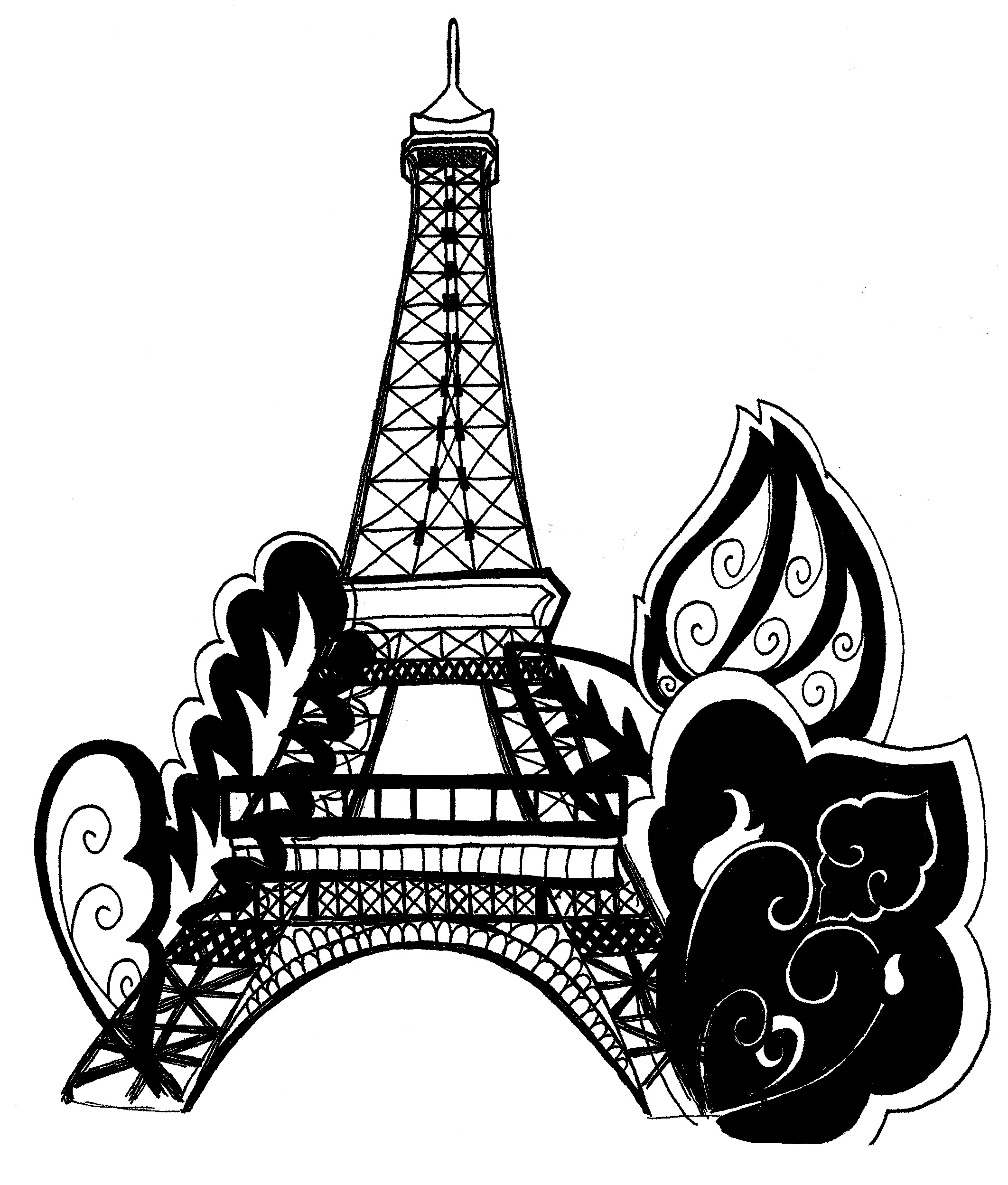 printable eiffel tower printable eiffel tower coloring pages for kids cool2bkids tower eiffel printable