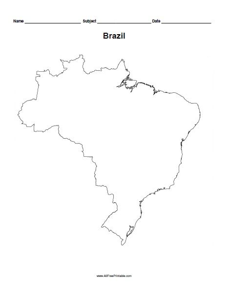 printable map of brazil the map of brazil social studies worksheets map of brazil printable map