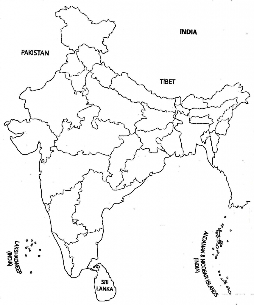 printable outline map of india india blank political map india map blank political outline printable map india of