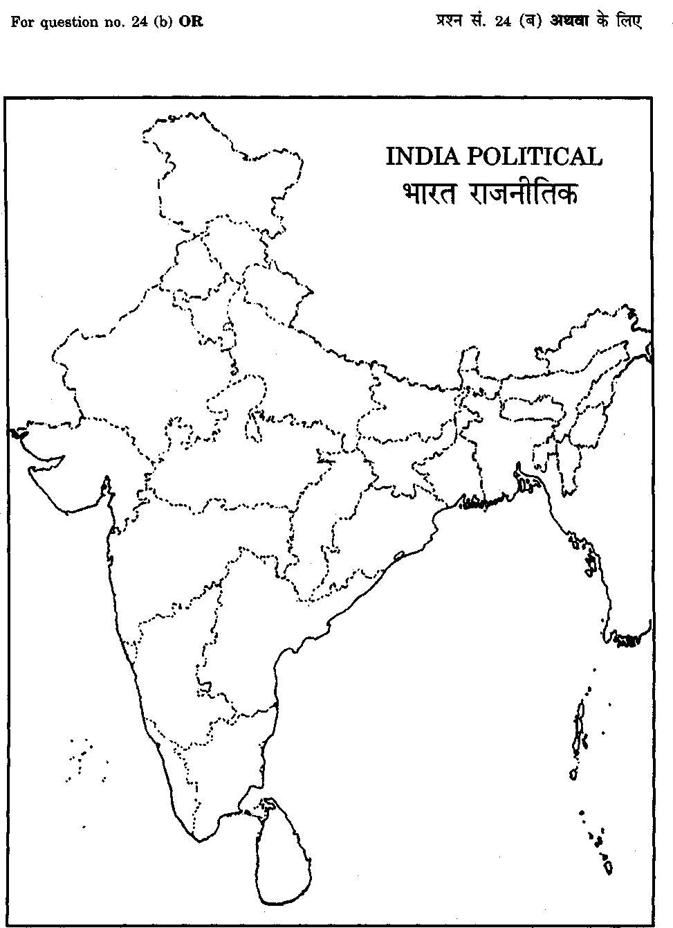printable outline map of india india map blank map printable india of outline