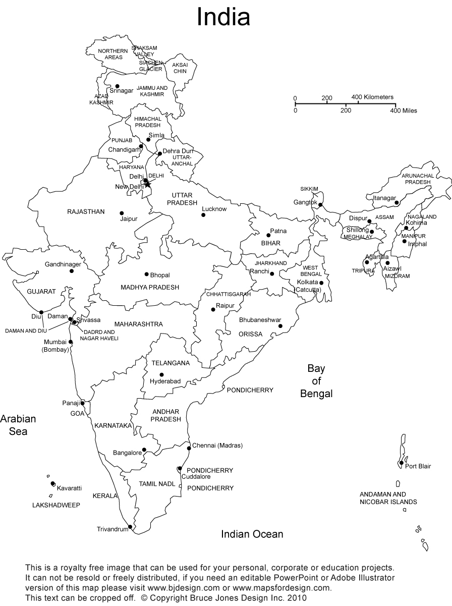 printable outline map of india india physical map in a4 size within india political map india outline map printable of