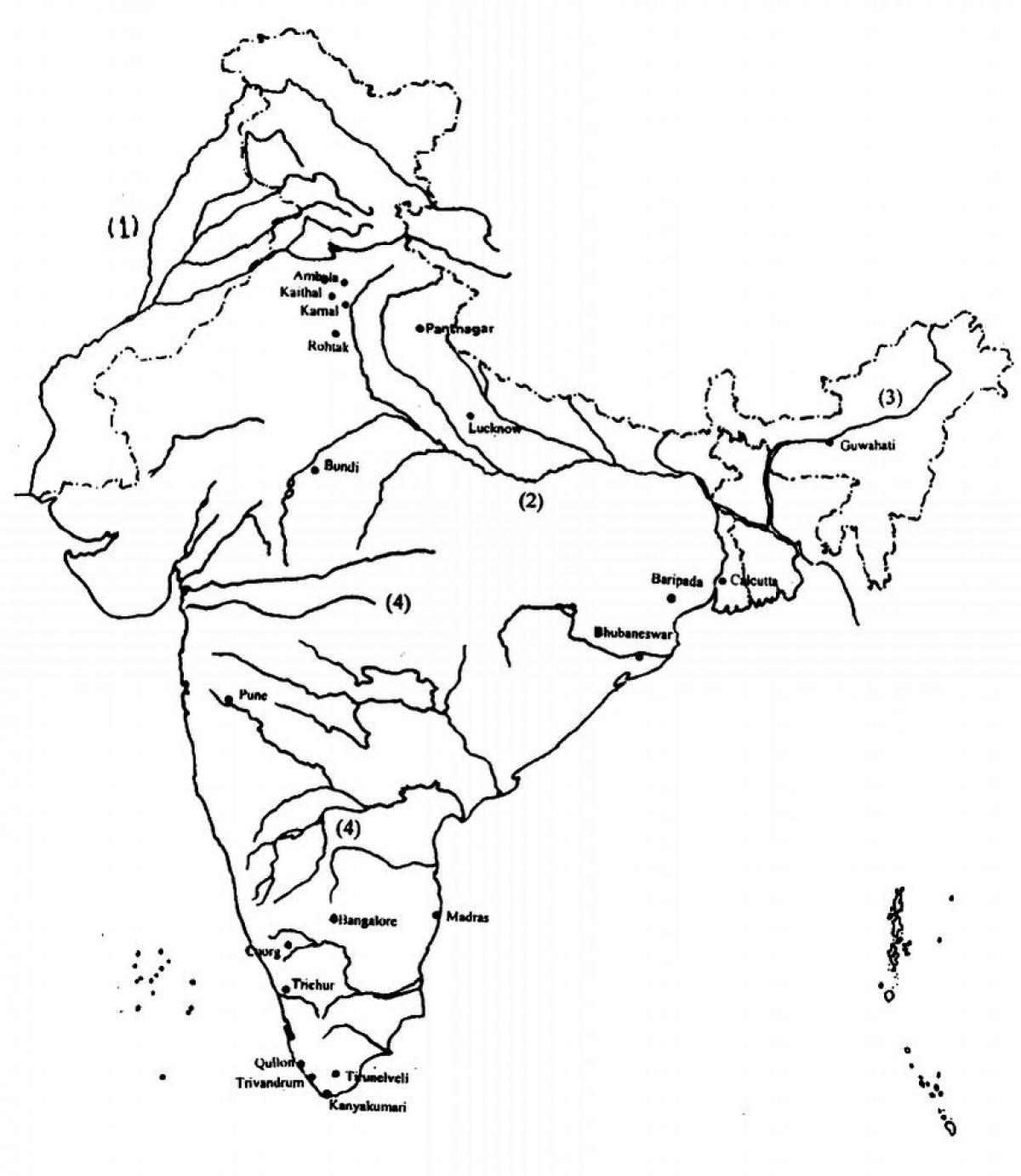 printable outline map of india outline map of india with rivers india outline map with india map of outline printable