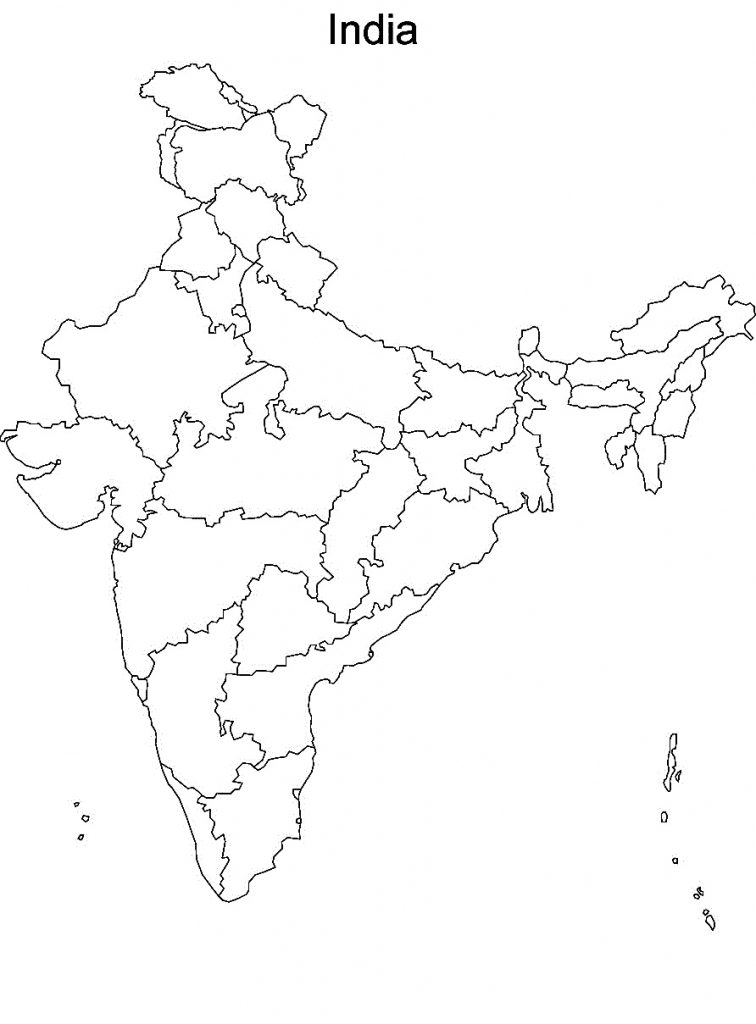 printable outline map of india printable india template outline india map of printable