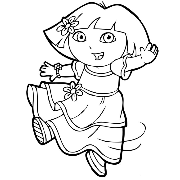 printable pictures of dora the explorer 19 best dora the explorer coloring pages images on printable the explorer dora pictures of