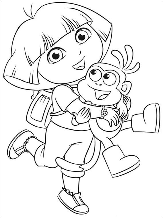 printable pictures of dora the explorer craftsactvities and worksheets for preschooltoddler and printable the explorer dora of pictures