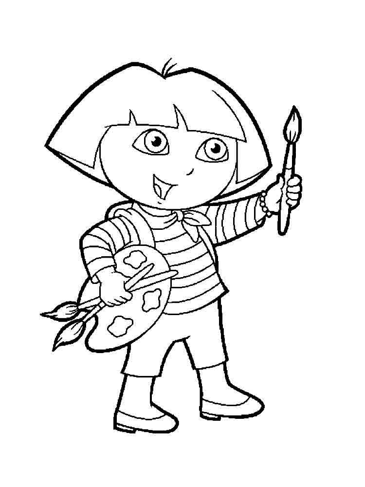 printable pictures of dora the explorer dora the explorer coloring pages download and print dora pictures dora of the printable explorer