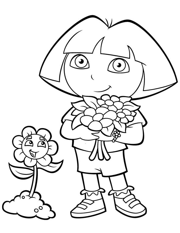 printable pictures of dora the explorer dora the explorer coloring pages download and print dora the of explorer printable dora pictures