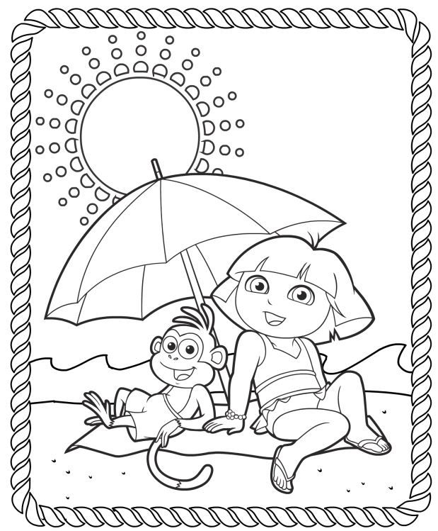 printable pictures of dora the explorer free printable dora coloring pages for kids the explorer of pictures dora printable