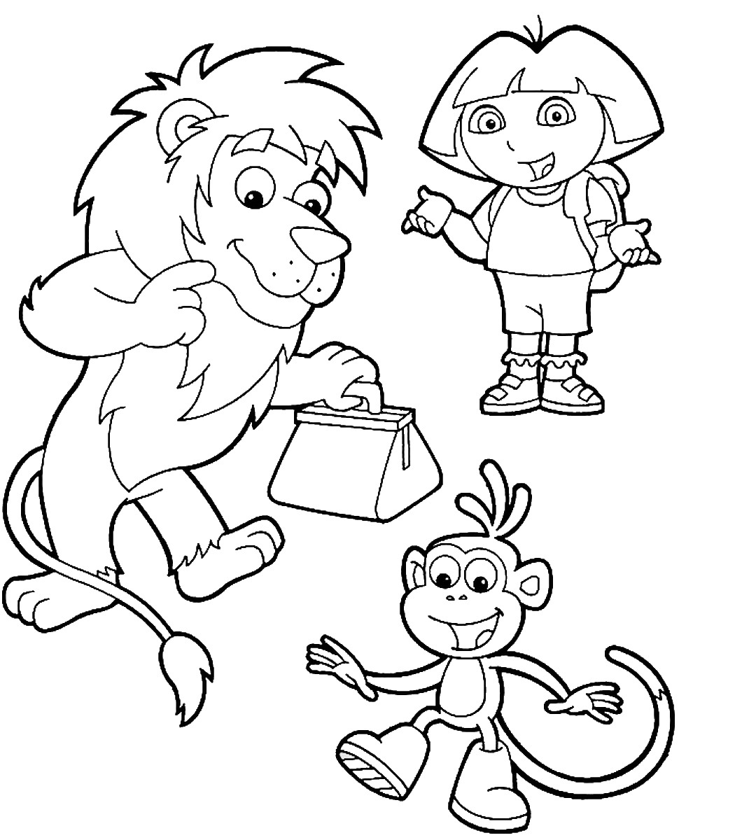 printable pictures of dora the explorer free printable dora the explorer coloring pages for kids explorer printable of the dora pictures