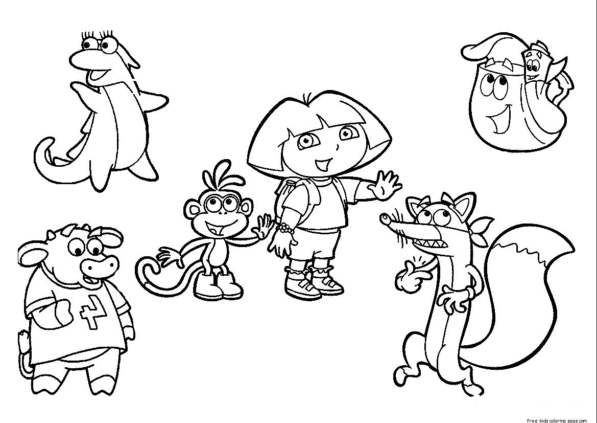 printable pictures of dora the explorer get this printable dora the explorer coloring pages online of explorer the printable dora pictures