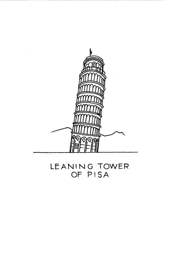 printable pictures of the leaning tower of pisa best leaning tower of pisa illustrations royalty free the tower leaning of printable pictures of pisa