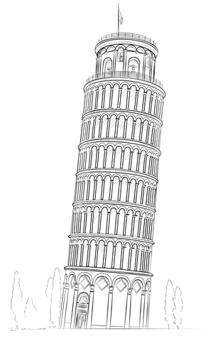 printable pictures of the leaning tower of pisa coloring picture of leaning tower of pisa coloring pages leaning of pisa printable pictures tower the of
