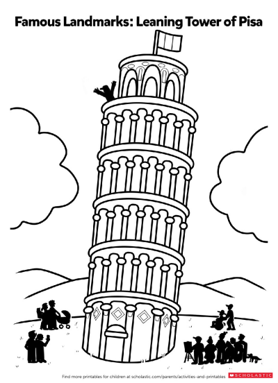 printable pictures of the leaning tower of pisa items similar to the leaning tower of pisa print of an leaning of the pisa printable pictures tower of