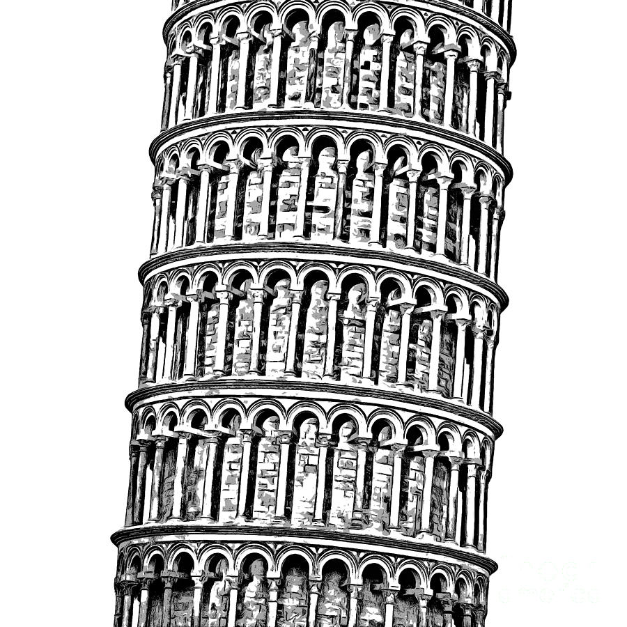 printable pictures of the leaning tower of pisa leaning tower of pisa coloring page draw the leaning leaning pisa the printable of pictures of tower