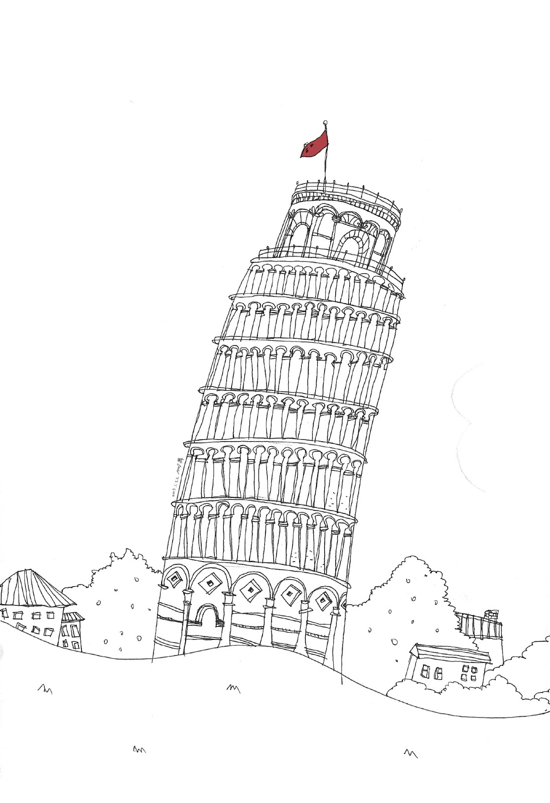 printable pictures of the leaning tower of pisa leaning tower of pisa coloring page google twit leaning of tower the printable pictures of pisa