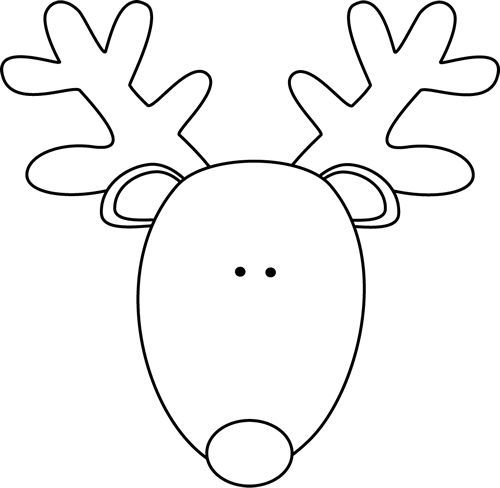 printable reindeer face no sew deer head silhouette sweater less than perfect printable face reindeer