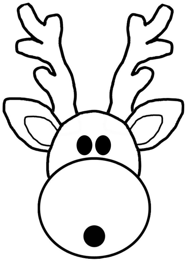 printable reindeer face search results for reindeer face outline template reindeer face printable
