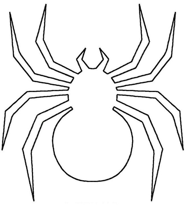 printable spiders spider shape template 55 crafts colouring pages spiders printable