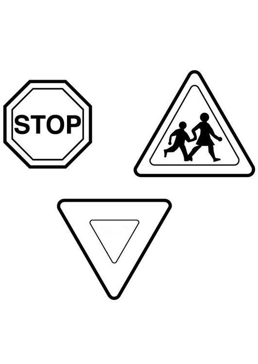 printable traffic signs coloring pages road signs coloring pages at getcoloringscom free pages signs coloring traffic printable