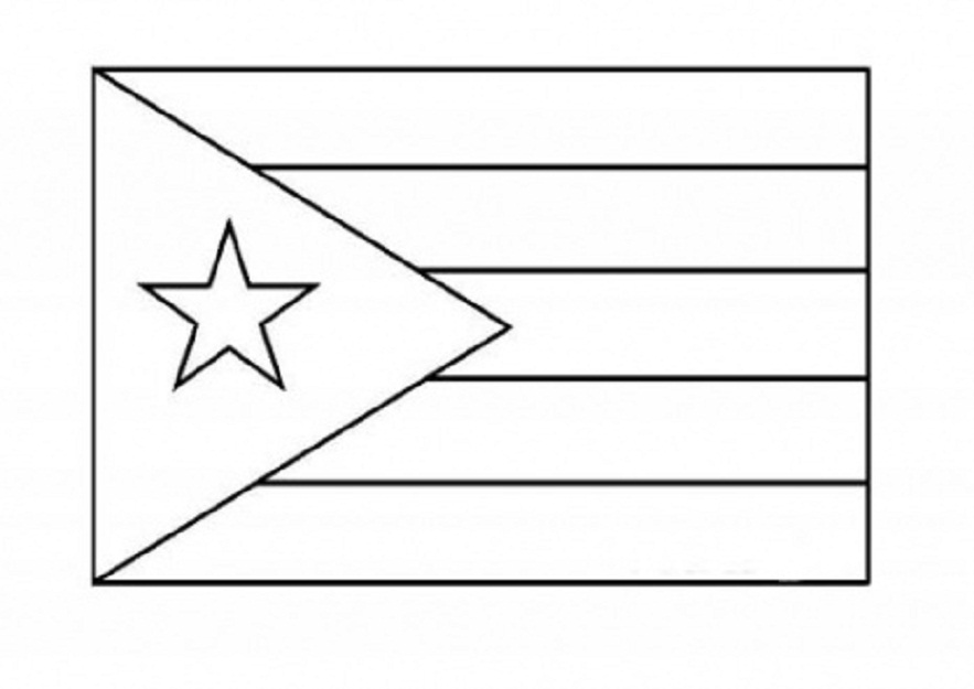 puerto rico flag to color national flag of puerto rico to color coloring pages to rico color puerto flag